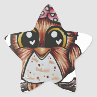 Adriana's Owl by Cheri Lyn Shull Star Sticker