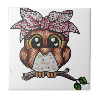 Adriana's Owl by Cheri Lyn Shull Tile