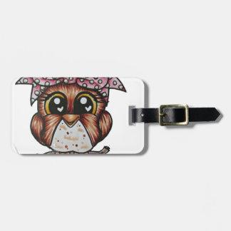 Adriana's Owl by Cheri Lyn Shull Travel Bag Tags