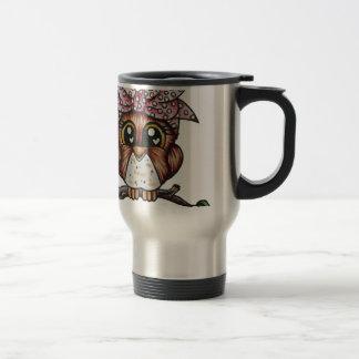 Adriana's Owl by Cheri Lyn Shull Travel Mug