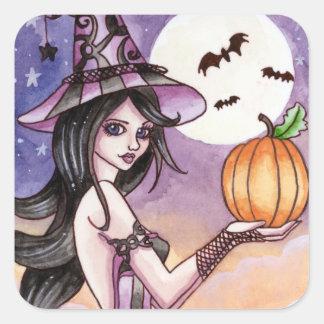 Adrianna - pegatina de la bruja de Halloween