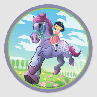 Adrian's Dream Horse Classic Round Sticker