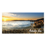 Adriatic beach photo card