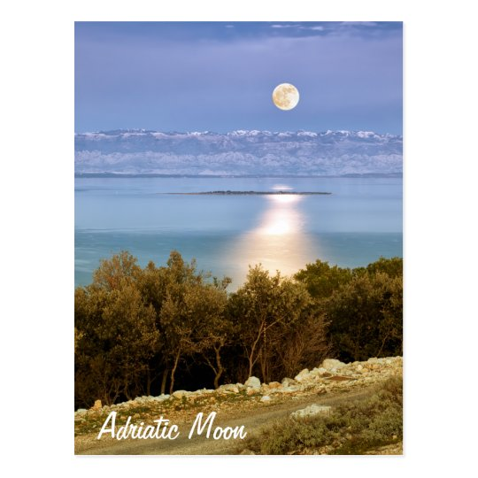 Adriatic Moon Postcard