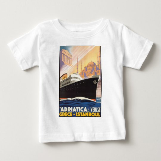 Adriatica Lines - Vintage Travel Poster Baby T-Shirt