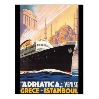 Adriatica Lines - Vintage Travel Poster Postcard