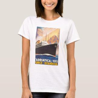 Adriatica Venise Grece Istamboul Vintage Travel Po T-Shirt