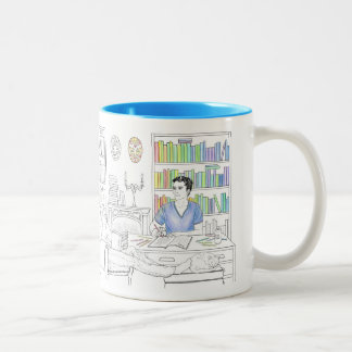 Adrien and Jake coloring book mug (with quote)