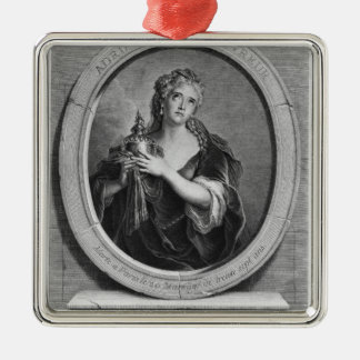 Adrienne Lecouvreur  engraved by Pierre Drevet Metal Ornament