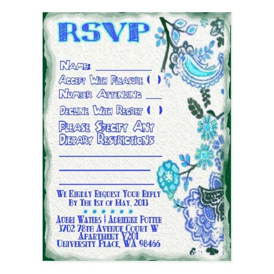 Adrienne's  RSVP Postcard