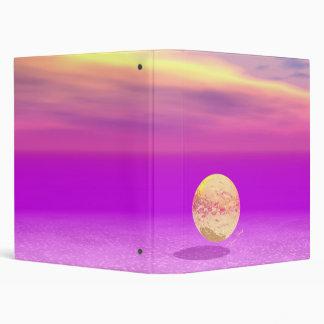 Adrift, Abstract Gold Violet Ocean Binder