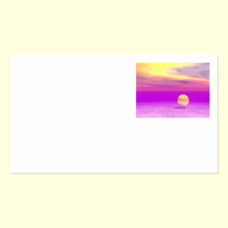 Adrift, Abstract Gold Violet Ocean Double-Sided Standard Business Cards (Pack Of 100)