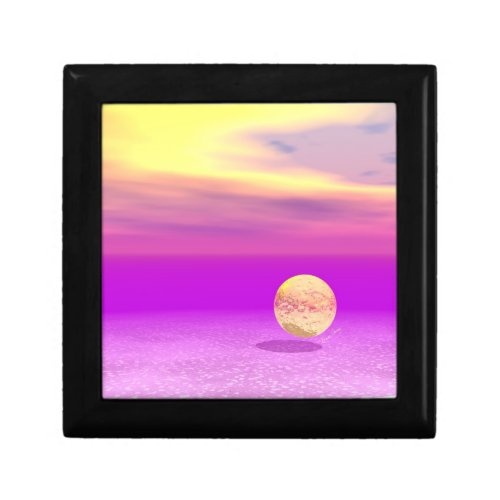 Adrift, Abstract Gold Violet Ocean Gift Box