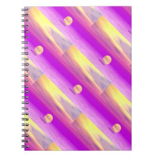 Adrift, Abstract Gold Violet Ocean Spiral Note Books