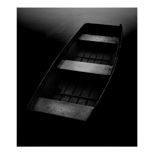 Adrift B&W framed print