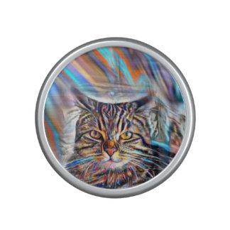 Adrift in Colors Tropical Sunset Cat Bluetooth Speaker