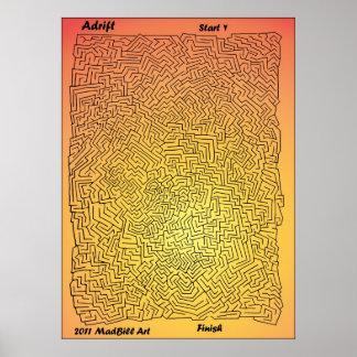 Adrift Maze Print