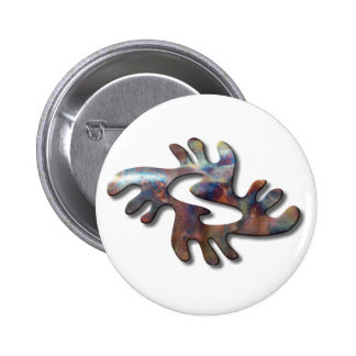 Adrinka-peace-copper Pinback Buttons