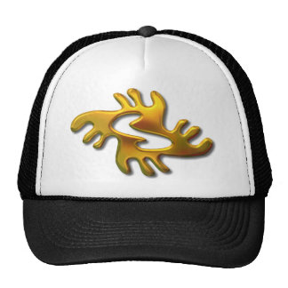 Adrinkra-peace-gold Trucker Hat