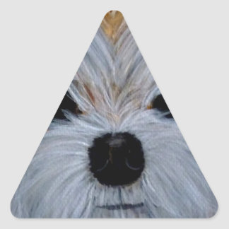 adShihTzu8x10.jpg Triangle Sticker