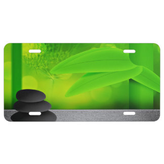 Adstract Stones Background License Plate
