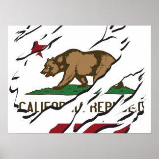 Aduanas de la bandera de la república de Californi Impresiones