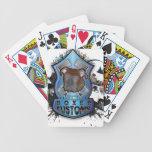 Aduanas del boxeador baraja cartas de poker