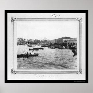 Aduanas en Estambul, Turquía 1885 Póster