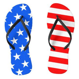 Adult 4th of July American Flag Flip Flops