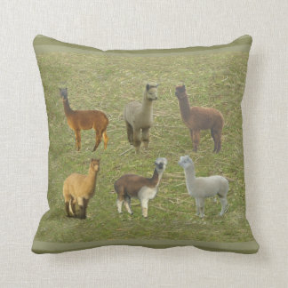 Adult alpacas throw pillow