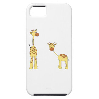 Adult and Baby Giraffe. Cartoon iPhone 5 Cases