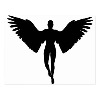 Adult Angel Silhouette Postcard