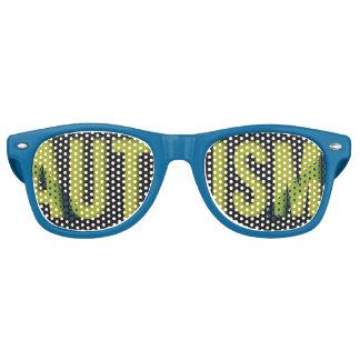 Adult Autism Awareness WAYFARER shades Blue