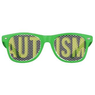 Adult Autism Awareness WAYFARER shades Green