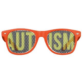 Adult Autism Awareness WAYFARER shades orange