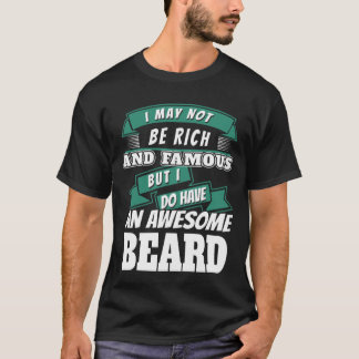Adult Awesome Beard Lover Humor Funny Novelty T-Sh T-Shirt