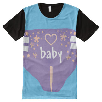 Adult Baby All Over/ Baby 4 Life all over/ABDL All-Over-Print Shirt