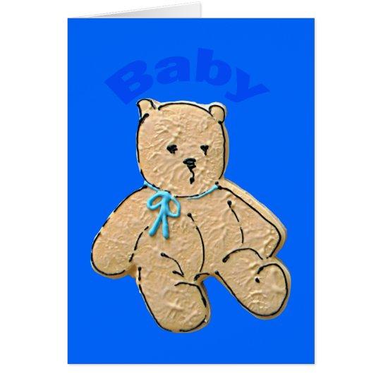 Adult Baby Boy Baby Bear Card