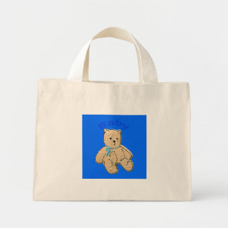 Adult Baby Boy Baby Bear Mini Tote Bag