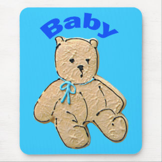 Adult Baby Boy Bear Mouse Pad