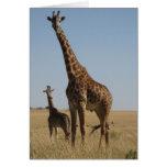 Adult & Baby giraffe Card