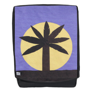 Adult Backpack with Palm Tree Design