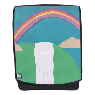 Adult Backpack with Rainbow Design