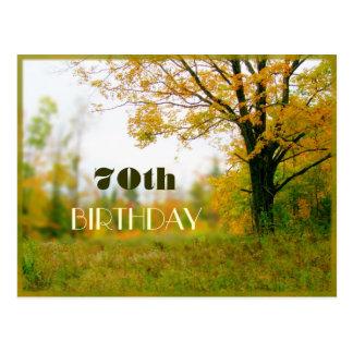 Adult Birthday Autumn Field Invitation Postcard