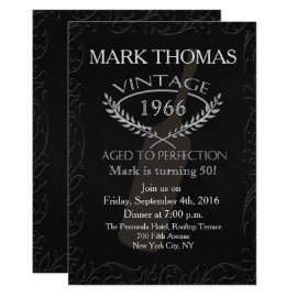 Adult Birthday Invitation - Aged to Perfection