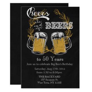 Adult Birthday Invitation Beer