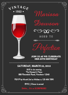 Adult birthday invitations announcements zazzle adult birthday invitation wine invitation filmwisefo