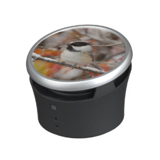 Adult Black-capped Chickadee in Snow, Grand Bluetooth Speaker