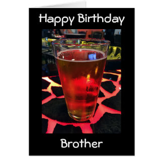 ADULT BROTHER'S BIRTHDAY-BEER ON A COOL BAR CARD