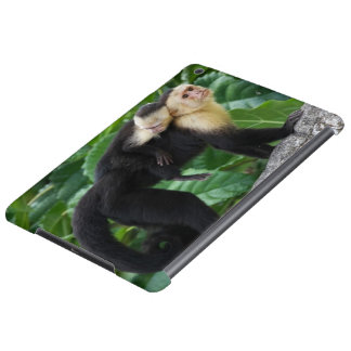 Adult Capuchin Monkey Carrying Baby On Its Back iPad Air Case